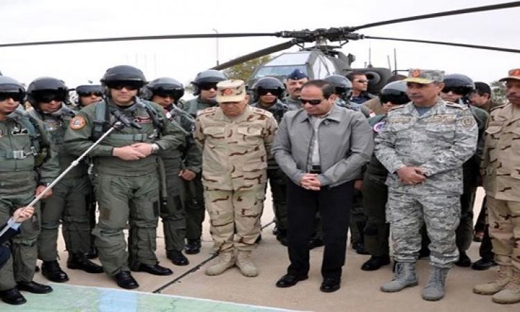 السيسى يشدد على ضرورة محاصرة الإرهاب على طول الحدود الغربية