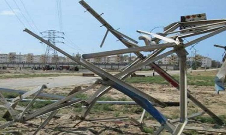 مجهولون يفجرون برج كهرباء للضغط العالى بثلاث قنابل فى الفيوم