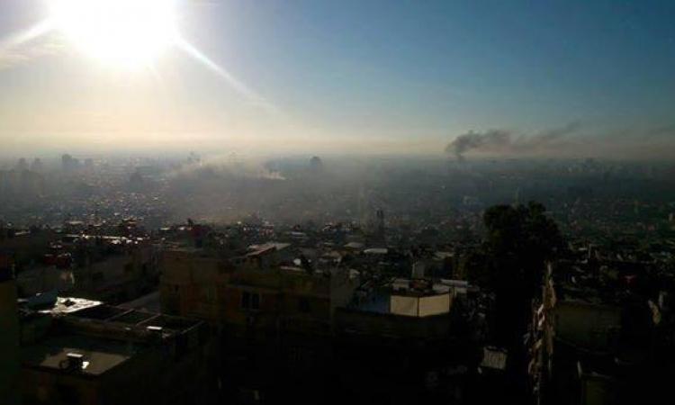 بالصور.. جيش الإسلام يقصف دمشق بكثافة