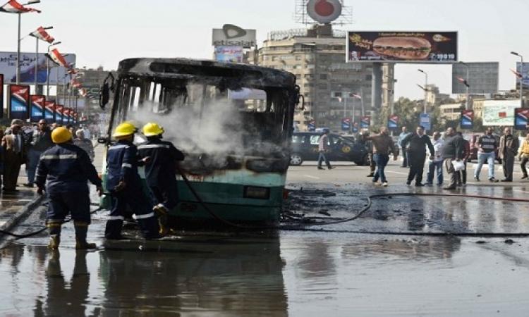الداخلية : ضبط 5 عناصر إخوانية متهمين بتفجير أتوبيس البحيرة