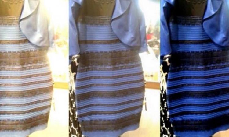 بالصور .. صاحبة الفستان المثير للجدل توضح لونه الحقيقى