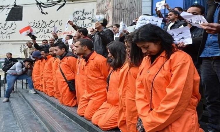 بالصور .. وقفة أمام نقابة الصحفيين تنديداً بحادث المصريين فى ليبيا