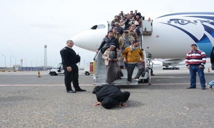 استئناف رحلات إجلاء المصريين من ليبيا بعد توقفها يومين