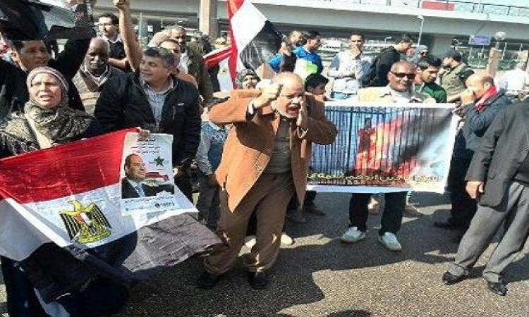 """مظاهرة فى عبد المنعم رياض للتنديد بمقتل الطيار الأردنى """"الكساسبة"""""""