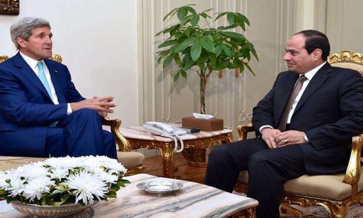 السيسى يلتقى كيرى الجمعة فى شرم الشيخ لبحث الوضع فى ليبيا ومواجهة داعش