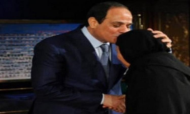 السيسى يوجه التحية لامهات مصر خاصة أم الشهيد