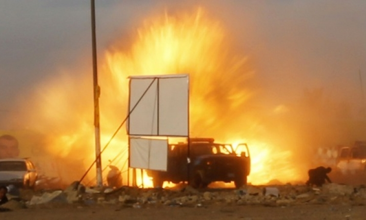 الداخلية : استشهاد مواطن وإصابة 32 شرطيا فى انفجار العريش