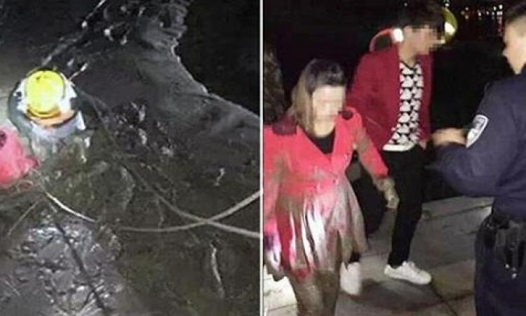 شاب صينى يدفع فتاتيه إلى رمى أنفسهم بالنهر