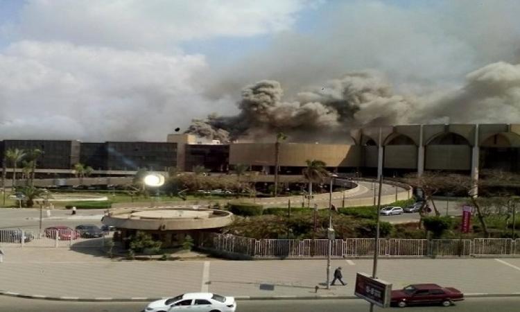 اندلاع حريق هائل فى قاعة المؤتمرات الدولية بمدينة نصر