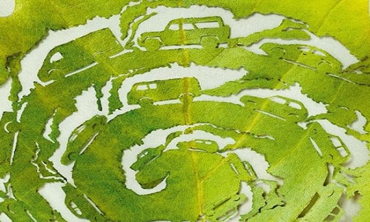 بالصور .. استخدام اوراق الشجر لمحاربة التلوث