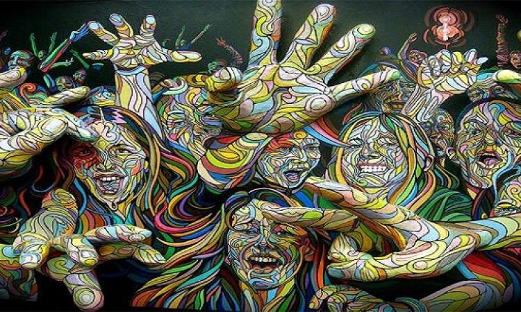 بالصور .. خلق لوحة فنية باستخدام أندماج الالوان