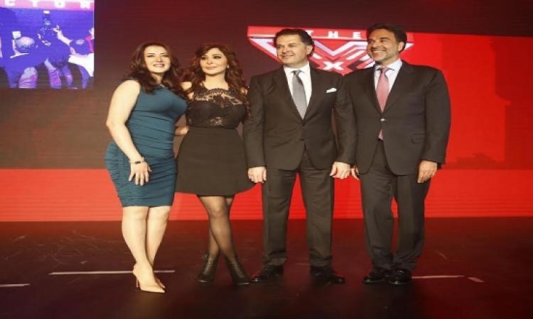 بالصور .. دنيا سمير غانم وإليسا تتألقان فى مؤتمر The X Factor