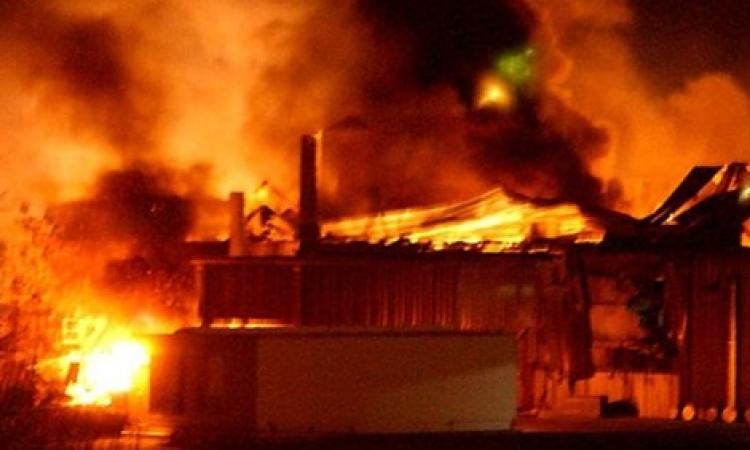 نشوب حريق خلف مبنى مديرية أمن القاهرة
