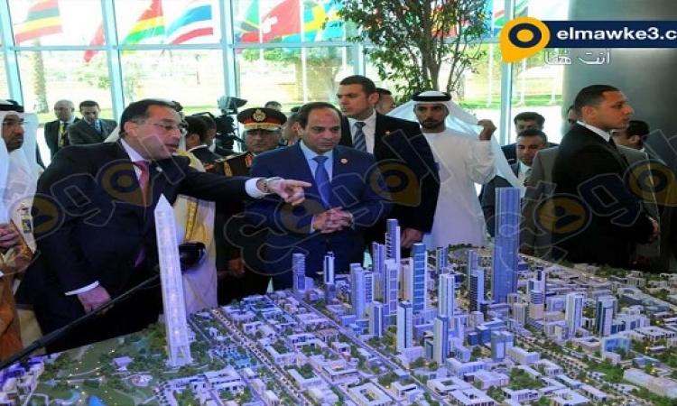 بالصور ..  السيسى يتفقد ماكيت العاصمة الإدارية الجديدة