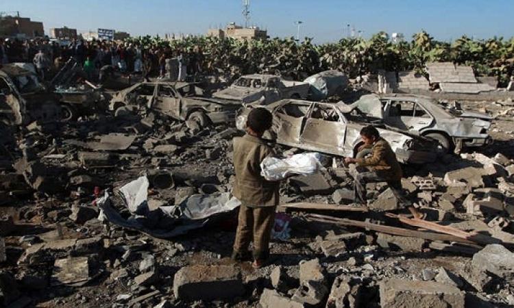 الموقع نيوز ينشر الصور الأولى لآثار الغارات السعودية على مواقع الحوثيين فى اليمن