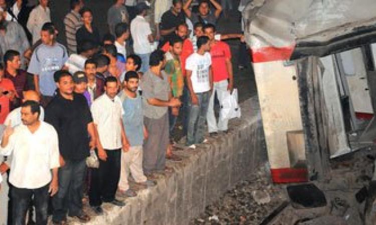 اصطدام قطار ركاب بجرار بين محطتى بولاق والجيزة