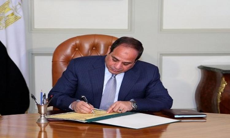 الرئيس السيسى يصدر قانونى مباشرة الحقوق السياسية ومجلس النواب