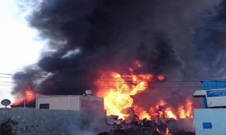 وزارة الصحة : مغادرة جميع مصابى حريق مصنع الخل بطنطا المستشفى