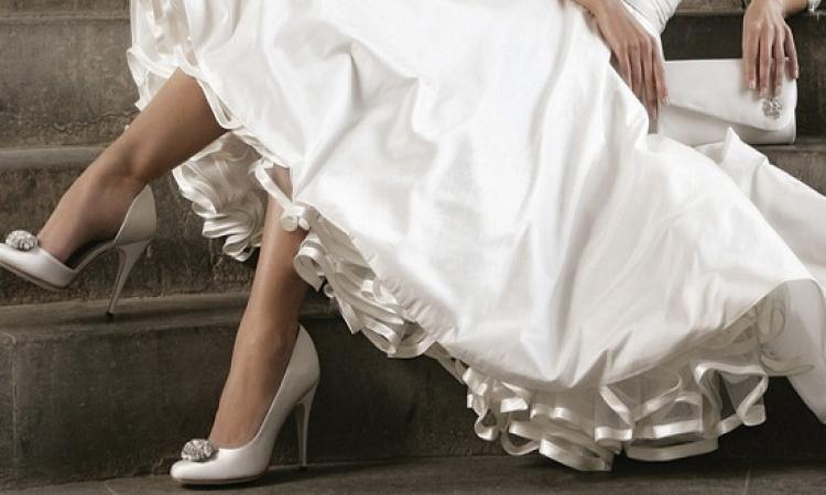 تشكيلة رائعة لأحذية عروس 2015