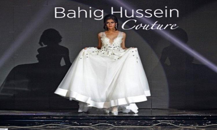 بالصور ..رقة وأنوثة طاغية بعرض أزياء زفاف بهيج حسين