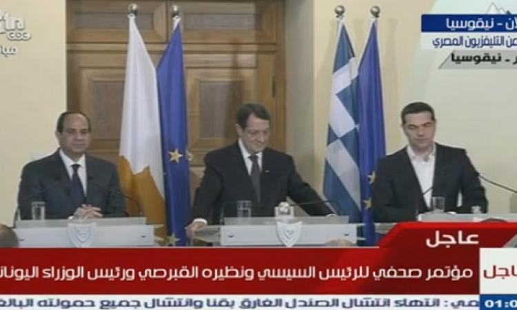 قمة مصرية – قبرصية – يونانية بنيقوسيا تناقش التعاون المشترك