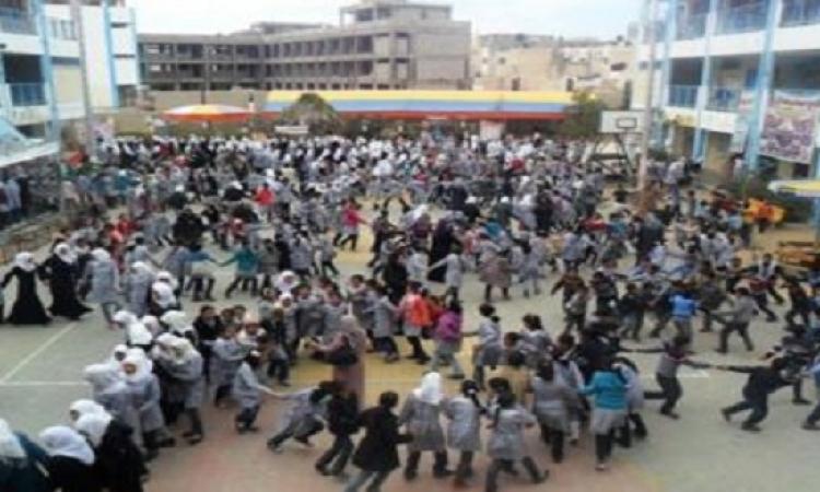 انهيار سور مدرسة بالجيزة ووفاة  طالب وطالبة و6 حالات خطرة