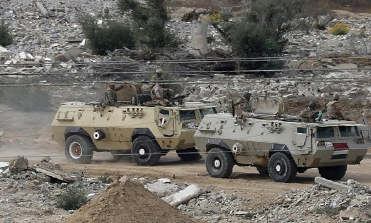 عملية برية واسعة للجيش ضد معاقل الارهابيين بشمال سيناء