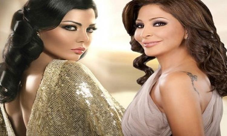 إليسا وهيفاء بفستان منقط من Dolce & Gabbana .. أيهما أجمل !!