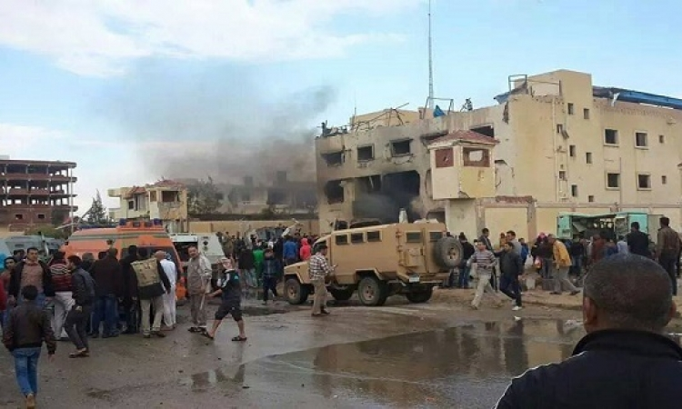 الداخلية: استشهاد 5 شرطيين ومواطن وإصابة آخرين فى تفجير قسم ثالث العريش