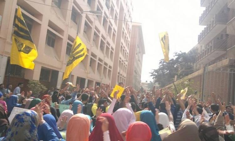 ضبط نجلى القيادى الإخوانى حمزة زوبع أثناء مشاركتهما فى مسيرة إخوانية بالقاهرة الجديدة