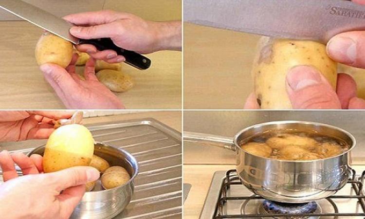 بالفيديو.. أسهل طريقة لتقشير البطاطس المسلوقة .. وخليكِ مرتاحة