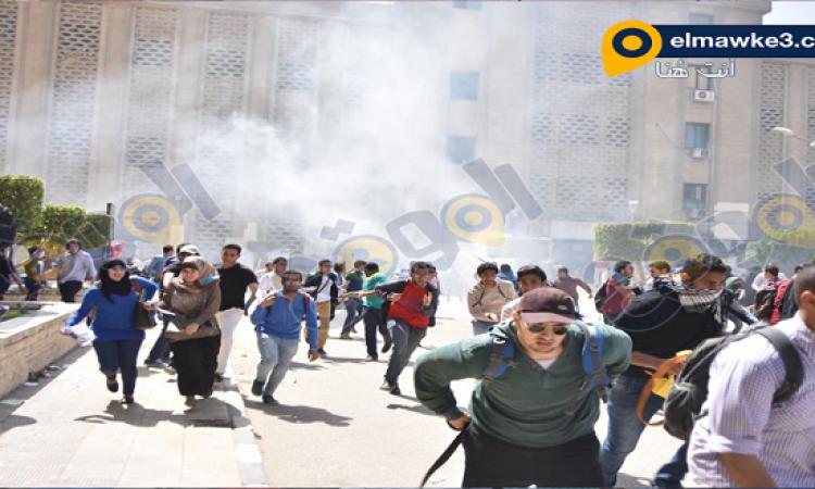 رئيس جامعة القاهرة: 12 مصابا من أفراد الأمن فى اشتباكات مع طلاب الإخوان
