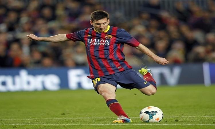 بالفيديو.. ميسى يسجل هدفه رقم 400 مع برشلونة