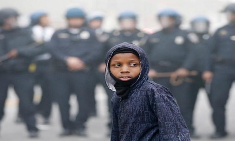 مظاهرات بالتيمور تكشف وجه الحرية المزيف فى أمريكا