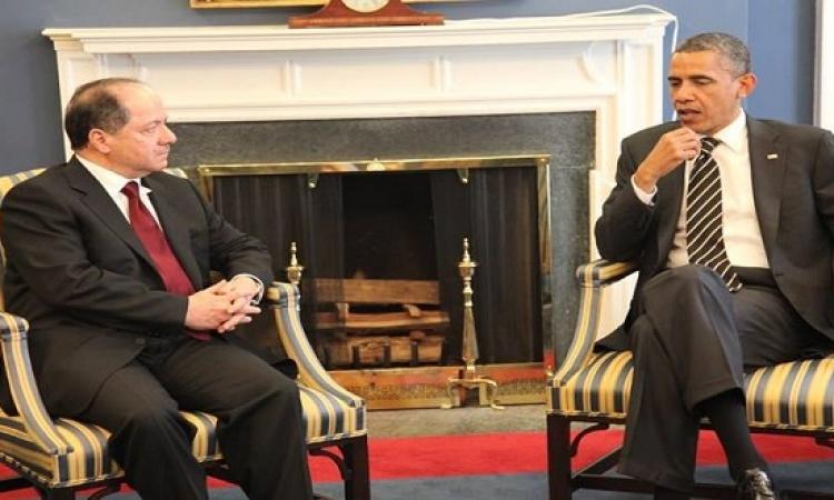 أوباما وبارزانى يشددان على تمسكهما بعراق موحد وفدرالى وديمقراطى