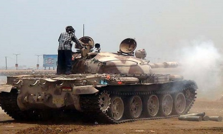 بعد انتهاء الهدنة الانسانية.. قصف تجمعات للحوثيين فى عدن