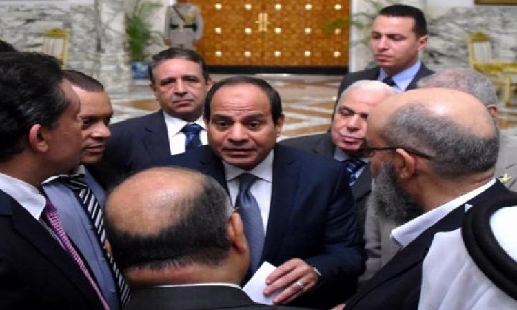 السيسى يبدى استعداده دعم قائمة موحدة فى الانتخابات البرلمانية