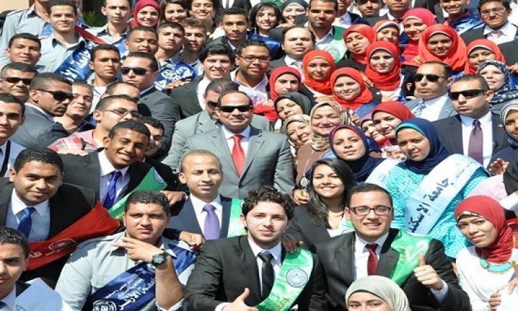 السيسى : نعتمد على أبناء سيناء فى الحرب على الإرهاب