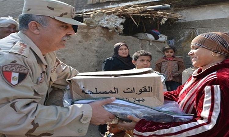 الجيش يوزع 80 ألف كرتونة مواد غذائية على الفقراء بمناسبة رمضان