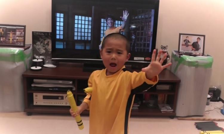 بالفيديو .. بروس لى الجديد طفل يابانى عمره 5 سنوات !!