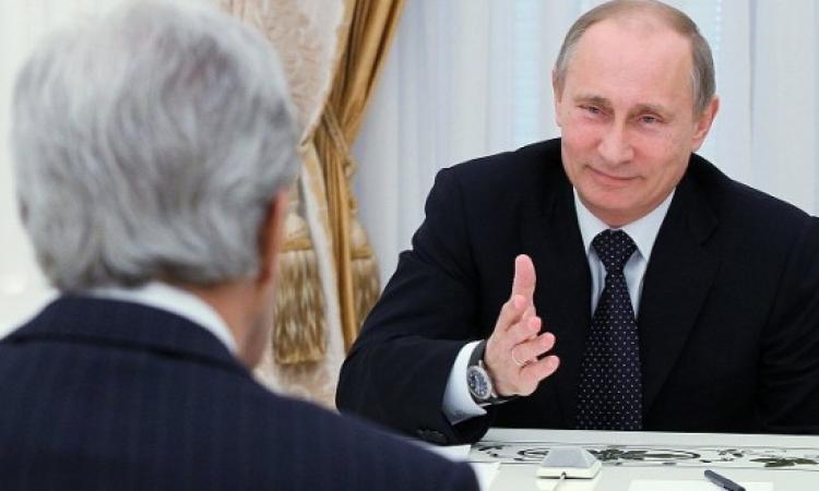 محادثات بين كيرى وبوتين للمرة الأولى منذ الأزمة الأوكرانية