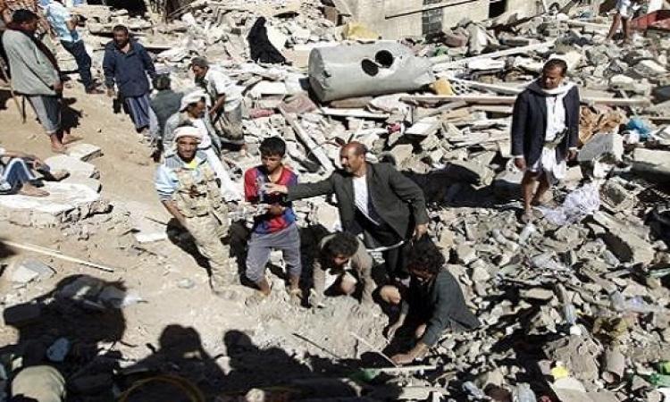طيران التحالف العربى يستهدف منزل عبد الله صالح فى صنعاء
