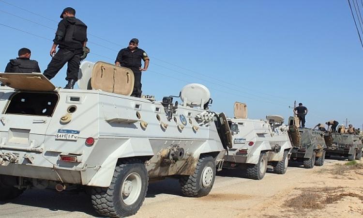 مقتل 4 إرهابيين والقبض على 3 آخرين بالشيخ زويد