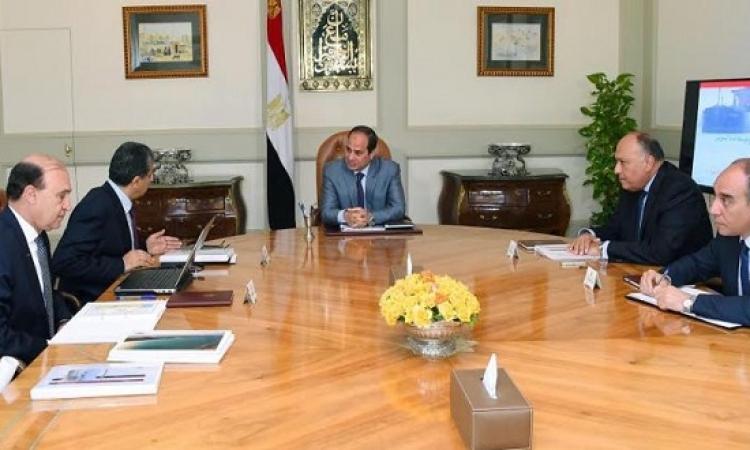 السيسى يطالب بإعداد المجرى الملاحى لقناة السويس تمهيداً لافتتاحها فى الموعد المحدد