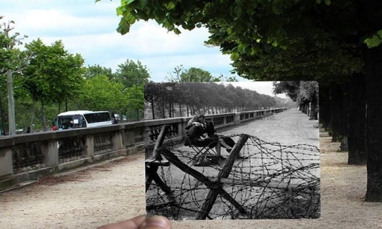 على طريقة سمير وشهير وبهير .. صور لنفس شوارع ومنازل باريس بس من 75 سنة !!