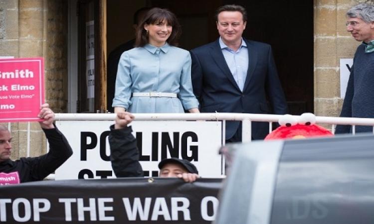تقدم حزب المحافظين فى الانتخابات البريطانية.. وكاميرون باق بالسلطة