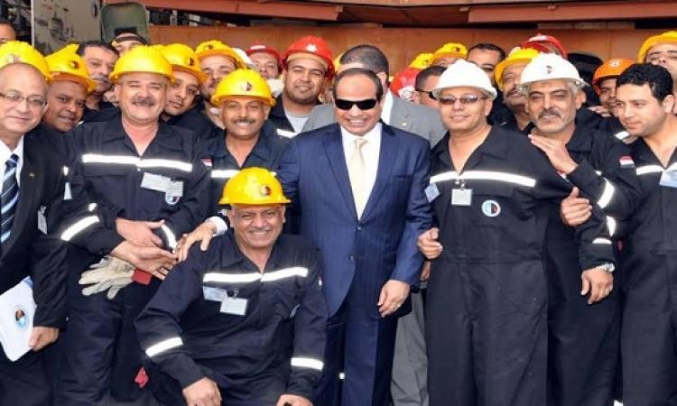 بالصور .. السيسى يفتتح تطوير ترسانة الإسكندرية ويؤكد : ماضون فى بناء المستقبل
