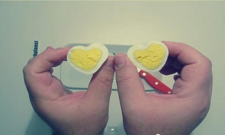 علمى أطفالك الحب.. واعملى البيض المسلوق على شكل قلب!