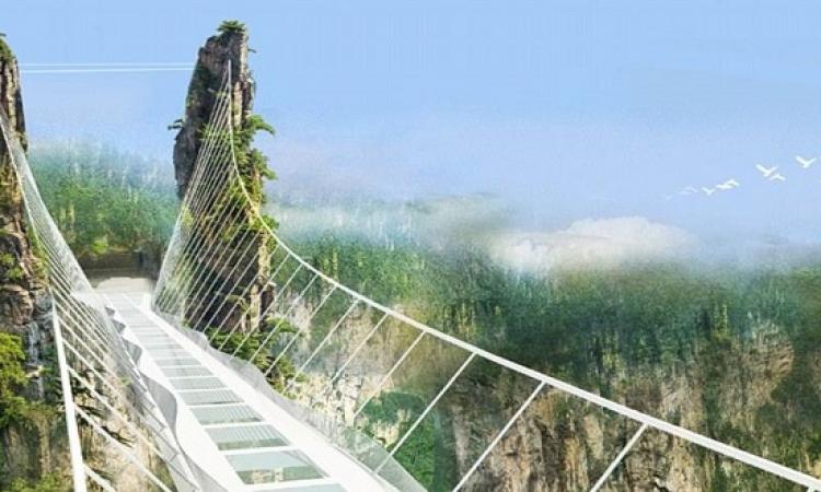 أطول جسر زجاجى فى حدائق «Avatar» بالصين