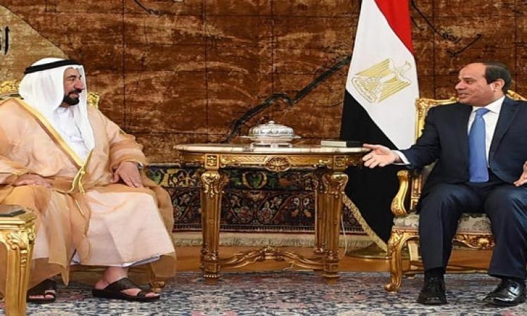 السيسى يمنح حاكم الشارقة قلادة الجمهورية